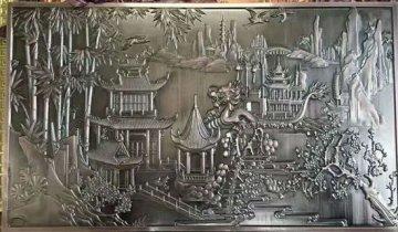 铝浮雕装饰壁画-室内壁画-简约铝浮雕壁画