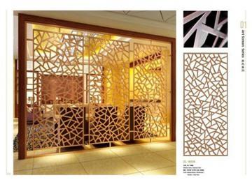 酒店大堂雕花中式铝屏风多少钱