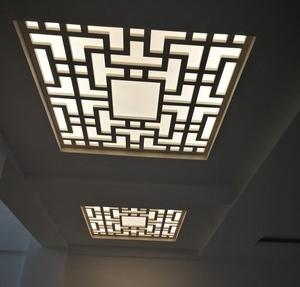 室内中式铝窗花吊顶定制
