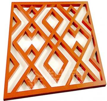 中式木纹铝窗花厂家批发