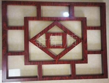 中式木纹铝窗花厂家