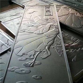 鉴赏铝浮雕壁画 荷花图