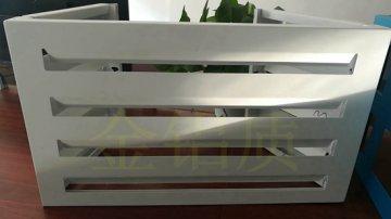 百叶型内折铝合金空调罩厂家定制